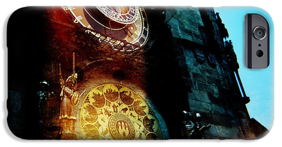 Clock Time Holga Color Photograph Praha IPhone 6 Case featuring the photograph Time Is Burning by Olivier De Rycke