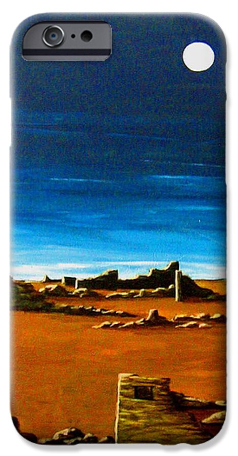 Anasazi IPhone 6 Case featuring the painting Timeless by Diana Dearen