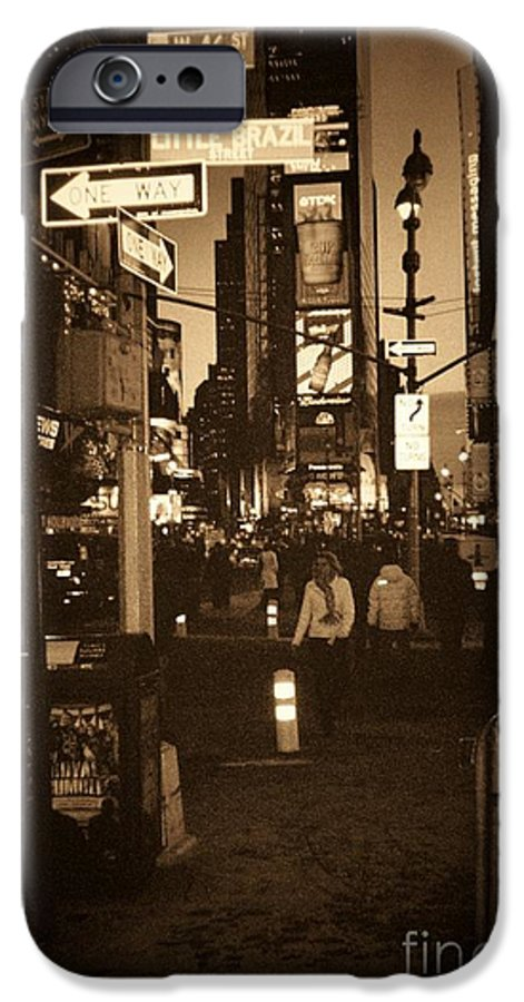 New York IPhone 6 Case featuring the photograph Times Square by Debbi Granruth