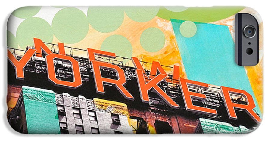 Ny IPhone 6 Case featuring the painting Times Square New Yorker by Jean Pierre Rousselet