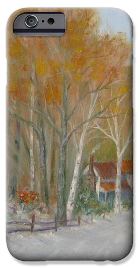 Country Road; House; Snow IPhone 6 Case featuring the painting To Grandma's House by Ben Kiger