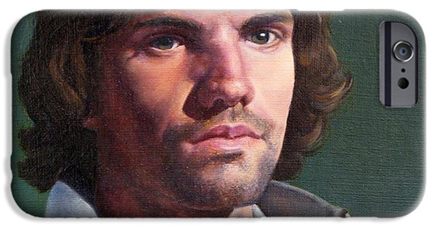 Portrait IPhone 6 Case featuring the painting Toby by Deborah Allison