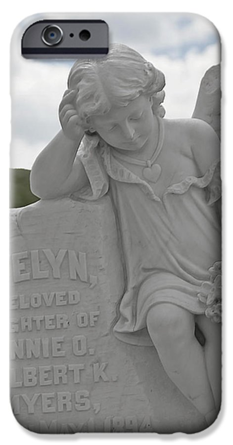 Bodie IPhone 6 Case featuring the photograph Tombstone Angel For An Angel by Christine Till