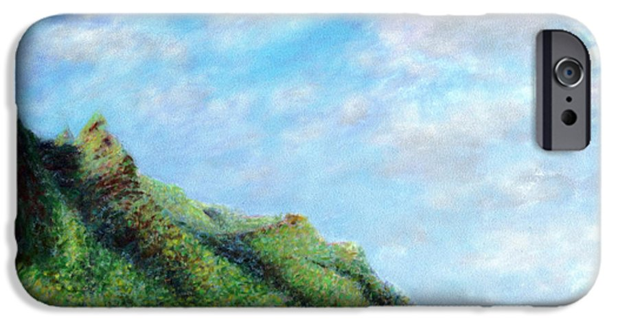Coastal Decor IPhone 6 Case featuring the painting Tondo by Kenneth Grzesik
