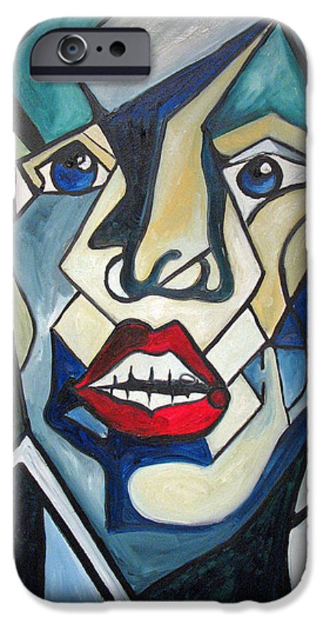 Abstract IPhone 6 Case featuring the painting Tortured by Patricia Arroyo