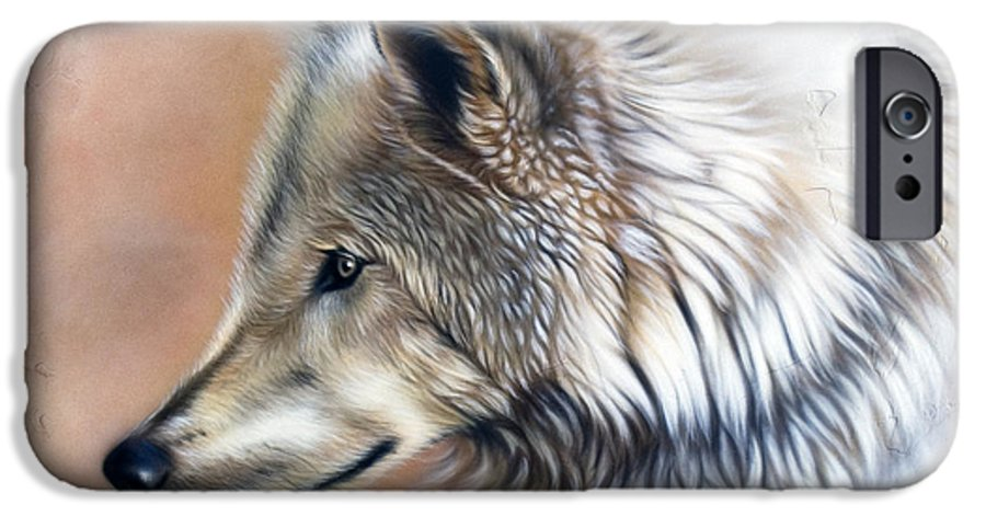 Wolves IPhone 6 Case featuring the painting Trace IIi by Sandi Baker