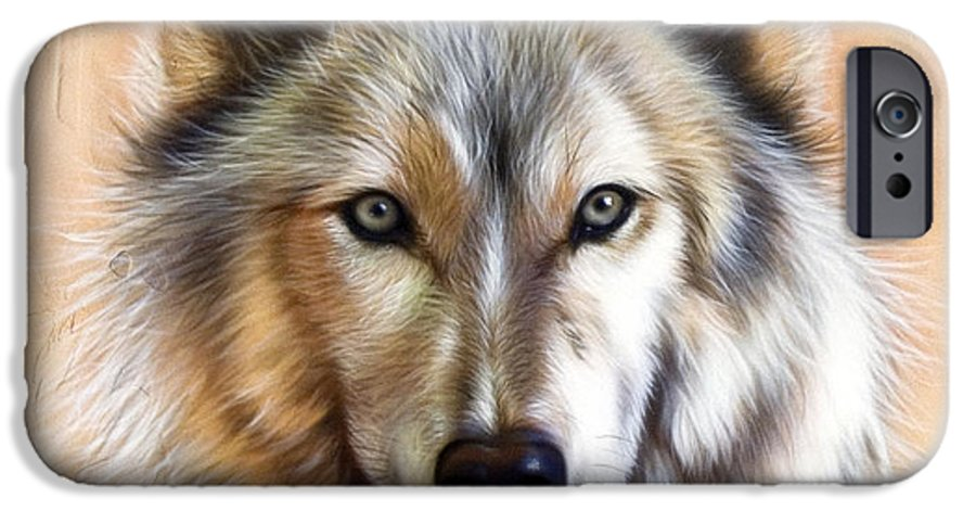 Wolves IPhone 6 Case featuring the painting Trace Two by Sandi Baker