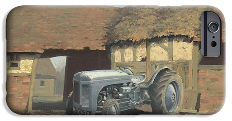 Tractor IPhone 6 Case featuring the painting Tractor And Barn by Richard Picton