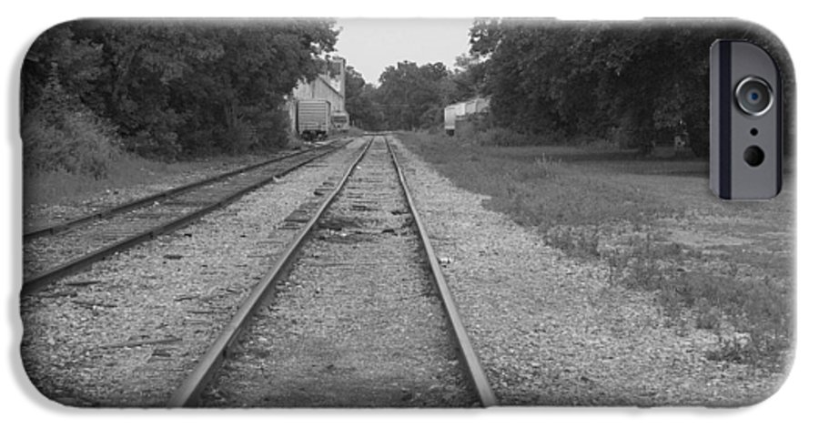 Train IPhone 6 Case featuring the photograph Train To Nowhere by Rhonda Barrett