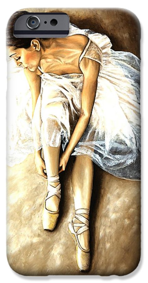 Ballet IPhone 6 Case featuring the painting Tranquil Preparation by Richard Young