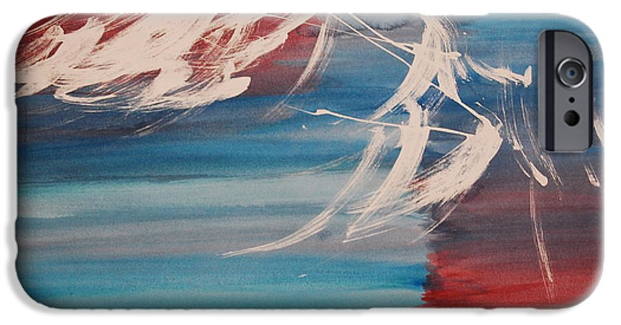 Tranquility IPhone 6 Case featuring the painting Tranquilidad 2 by Lauren Luna