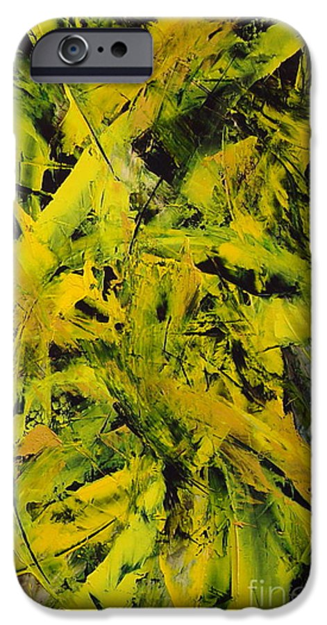 Abstract IPhone 6 Case featuring the painting Transitions Vi by Dean Triolo