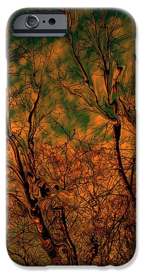 Trees IPhone 6 Case featuring the photograph Tree Abstract by Linda Sannuti