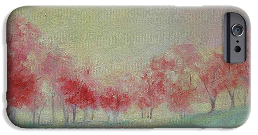 Impressionist Trees IPhone 6 Case featuring the painting Treeline by Ginger Concepcion
