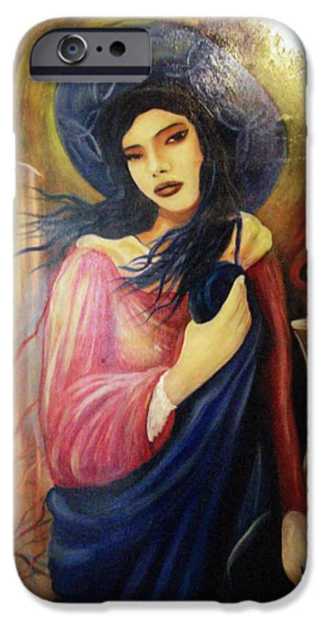 Witch IPhone 6 Case featuring the painting Trial By Fire by Will Le Beouf