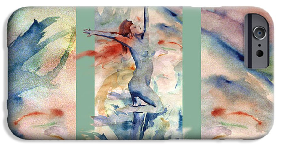 Abstract IPhone 6 Case featuring the painting Tribute by Steve Karol