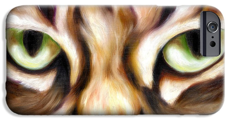 Cat IPhone 6 Case featuring the painting Trick Or Treat by Hiroko Sakai