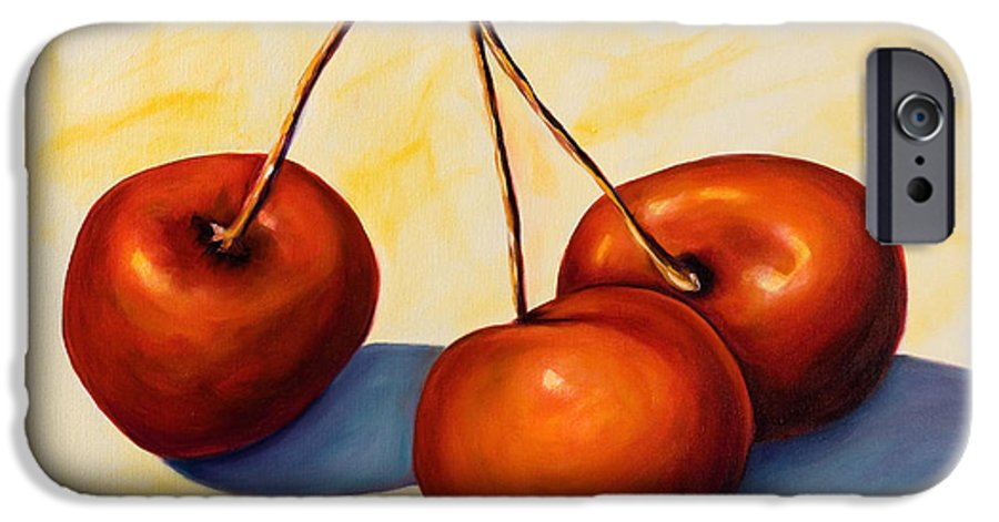 Cherries IPhone 6 Case featuring the painting Trilogy by Shannon Grissom