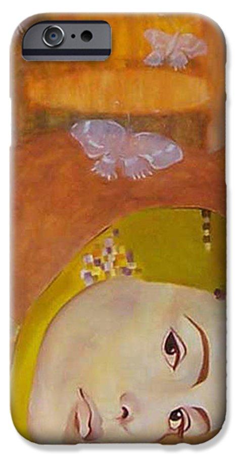 Figurative IPhone 6 Case featuring the painting Trio by Antoaneta Melnikova- Hillman
