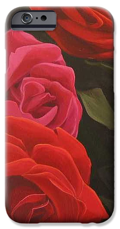 Roses In Italy IPhone 6 Case featuring the painting Trio by Hunter Jay