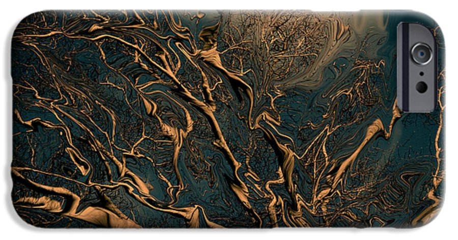 Trees Nature Abstract Digital Painting IPhone 6 Case featuring the photograph Trippy Tree by Linda Sannuti