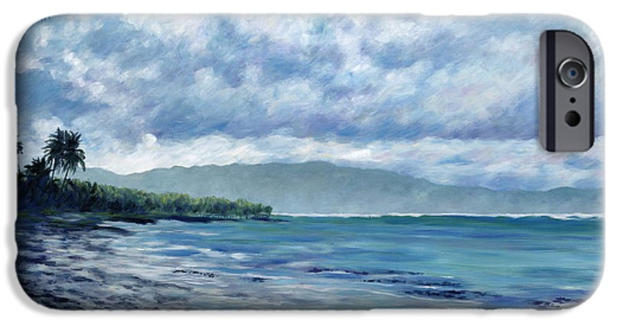 Seascape IPhone 6 Case featuring the painting Tropical Rain by Danielle Perry