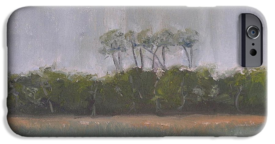 Landscape Beach Coast Tree Water IPhone 6 Case featuring the painting Tropical Storm by Patricia Caldwell