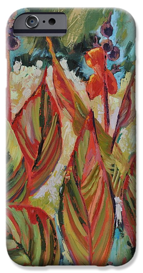 Tropicana IPhone 6 Case featuring the painting Tropicana by Ginger Concepcion