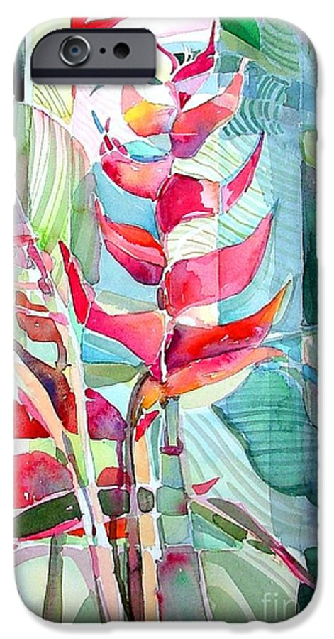 Landscape IPhone 6 Case featuring the painting Tropicana Red by Mindy Newman