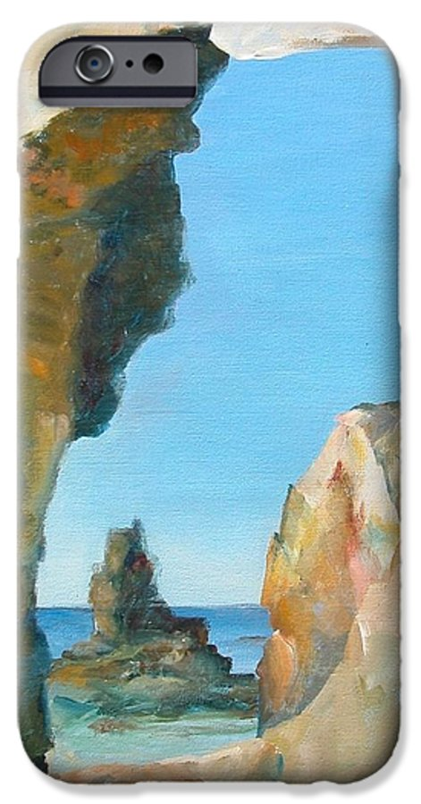 Paysage IPhone 6 Case featuring the painting Trouee 1 by Muriel Dolemieux