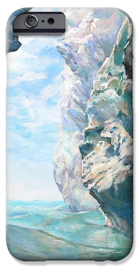 Landscape Paintings IPhone 6 Case featuring the painting Trouee 2 by Muriel Dolemieux