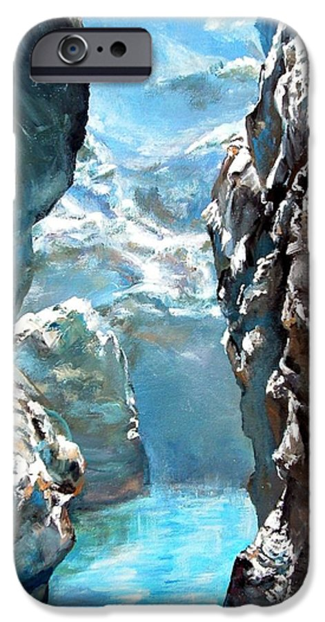 Landscape IPhone 6 Case featuring the painting Trouee 3 by Muriel Dolemieux