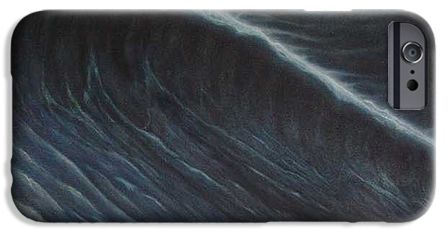 Seascapes IPhone 6 Case featuring the painting Tsunami by Angel Ortiz