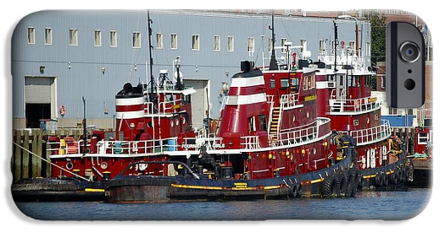 Tug IPhone 6 Case featuring the photograph Tugs At Rest by Faith Harron Boudreau