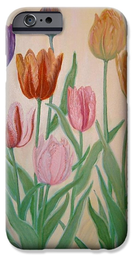 Flowers Of Spring IPhone 6 Case featuring the painting Tulips by Ben Kiger