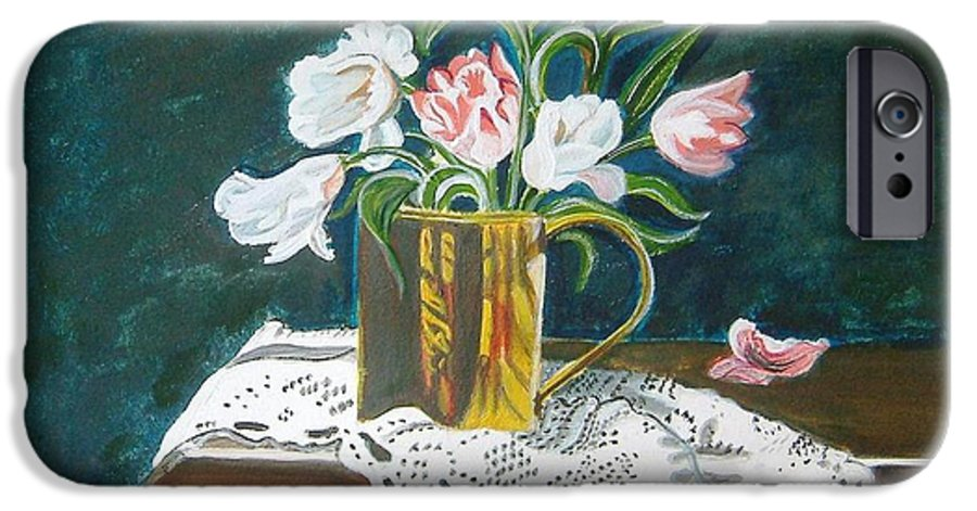 Tulips IPhone 6 Case featuring the painting Tulips by Manjiri Kanvinde