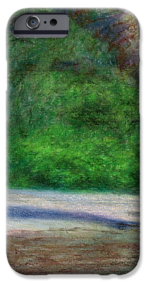 Rainbow Colors Pastel IPhone 6 Case featuring the painting Tunnels Beach by Kenneth Grzesik