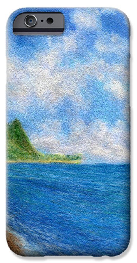Rainbow Colors Pastel IPhone 6 Case featuring the painting Tunnels Beach Sky by Kenneth Grzesik