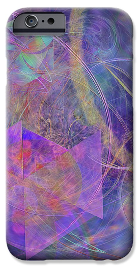 Turbo Blue IPhone 6 Case featuring the digital art Turbo Blue by John Beck