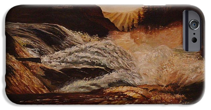 Water IPhone 6 Case featuring the painting Turbulent Waters by Quwatha Valentine