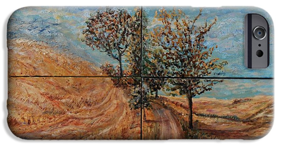 Landscape IPhone 6 Case featuring the painting Tuscan Journey by Nadine Rippelmeyer