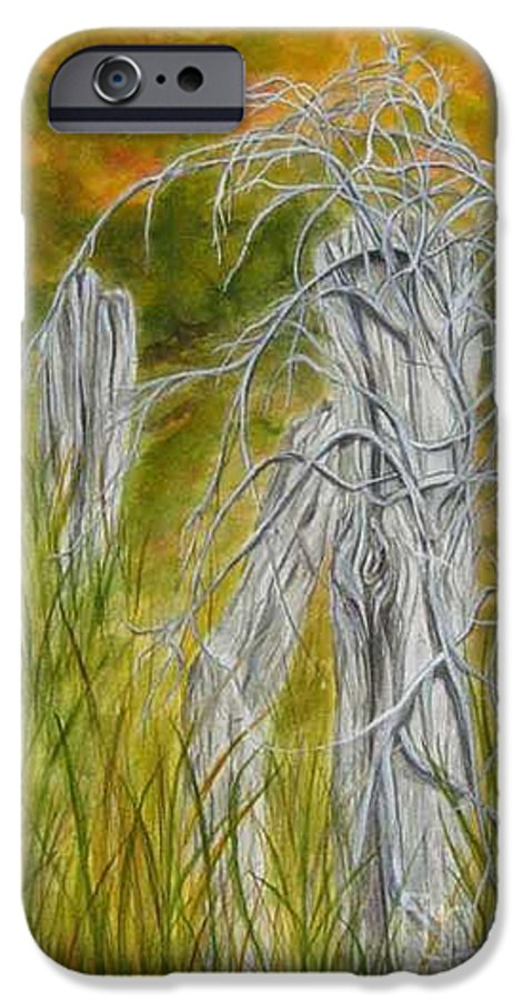 Landscape IPhone 6 Case featuring the painting Twisted by Regan J Smith