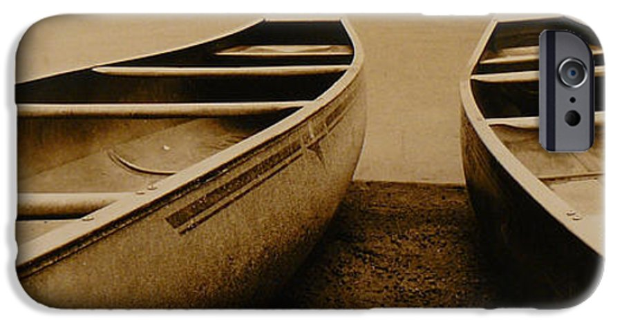 Canoes IPhone 6 Case featuring the photograph Two Canoes by Jack Paolini