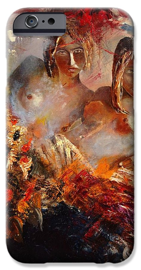 Girl Nude IPhone 6 Case featuring the painting Two Friends by Pol Ledent