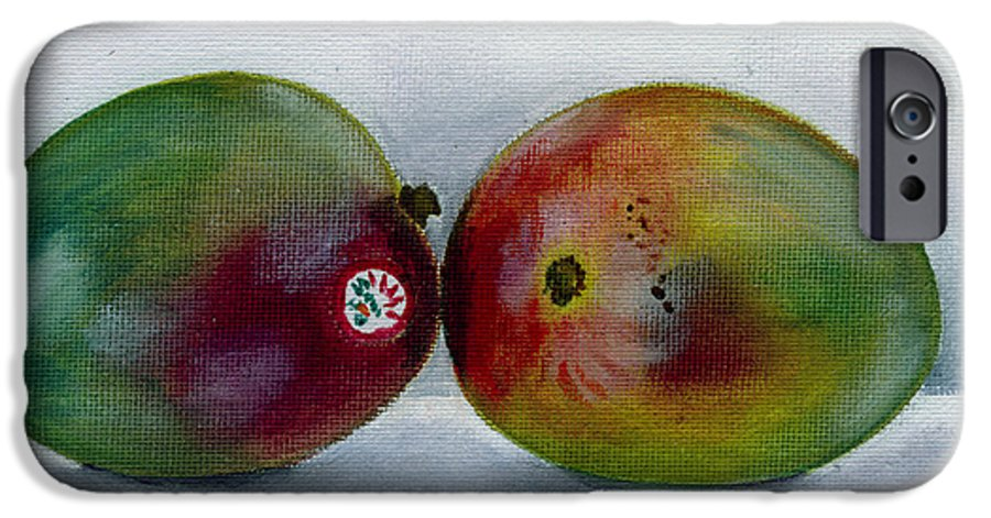 Still-life IPhone 6 Case featuring the painting Two Mangoes by Sarah Lynch