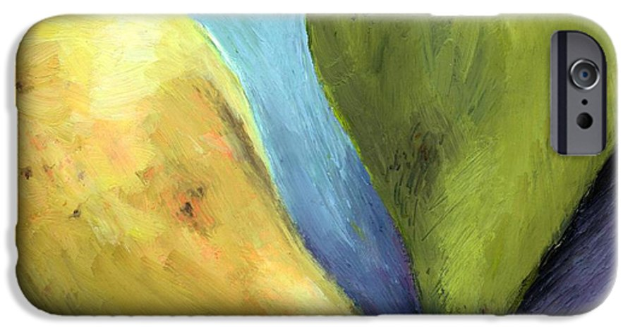 Pear IPhone 6 Case featuring the painting Two Pears Still Life by Michelle Calkins