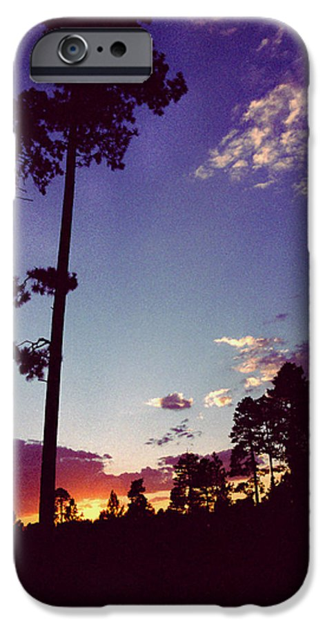 Arizona Sunset IPhone 6 Case featuring the photograph Two Pines Sunset by Randy Oberg