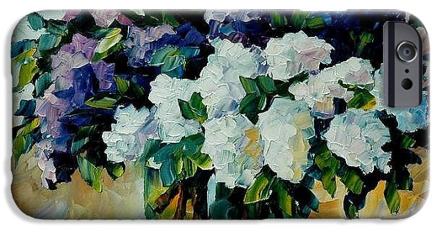 Painting IPhone 6 Case featuring the painting Two Spring Colors by Leonid Afremov