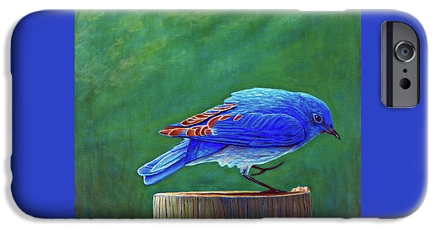 Bluebird IPhone 6 Case featuring the painting Two Step by Brian Commerford