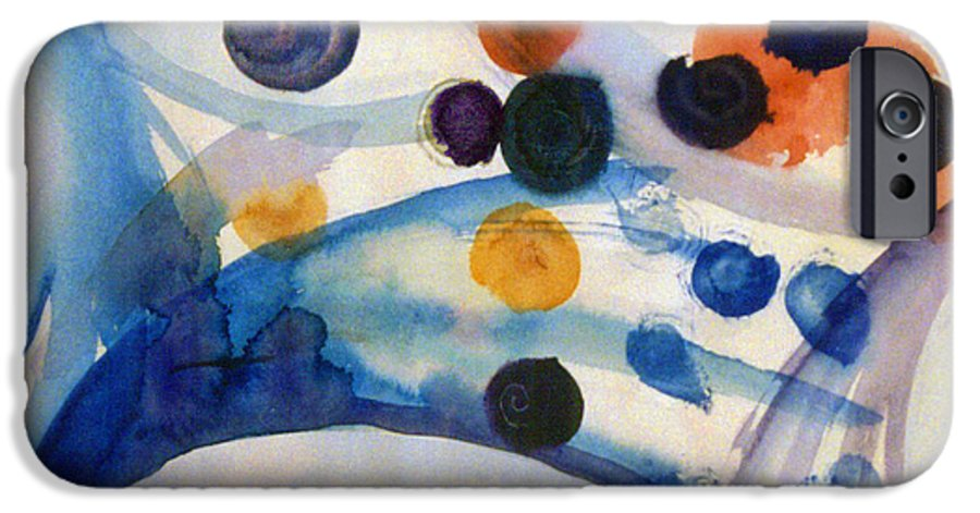 Abstract IPhone 6 Case featuring the painting Under The Sea by Steve Karol
